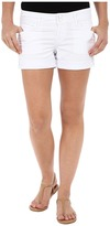 Hudson Croxley Mid Thigh Shorts in White