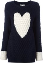Chinti and Parker heart detail Aran sweater