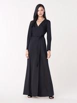 Diane von Furstenberg Tilly Silk Jacquard Maxi Wrap Dress