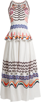 Temperley London Spellbound geometric-embroidered cotton dress
