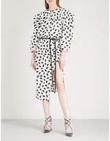 Off-White Monochrome cotton midi dress