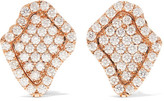 Kimberly McDonald - 18-karat Rose Gold Diamond Earrings - one size