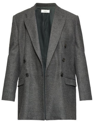 Etoile Isabel Marant Eagen Checked Double-breasted Blazer - Dark Grey