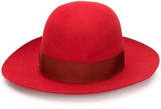 Borsalino bow ribbon fedora hat