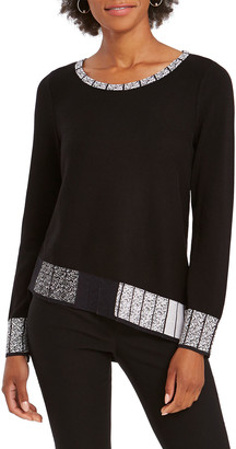 Nic+Zoe Petite Stand Out Asymmetric Sweater