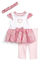 Little Me Infant Girl's Dress, Leggings & Headband Set