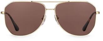 Prada Angled Aviator Sunglasses