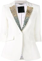 Philipp Plein embellished collar blazer - women - Polyester/Spandex/Elastane/Viscose - M