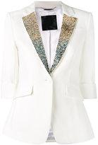 Philipp Plein embellished collar blazer - women - Polyester/Spandex/Elastane/Viscose - S