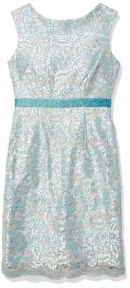Brianna Women's Sequin Raised Lace Short Dress with Beaded Waistband