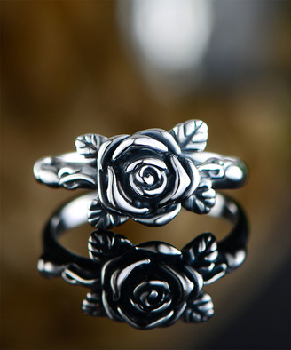 Ben Stacy Women's Rings Silver/White - Sterling Silver Rose Blossoming Ring
