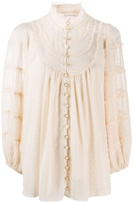 Zimmermann Faux Pearl High Neck Top