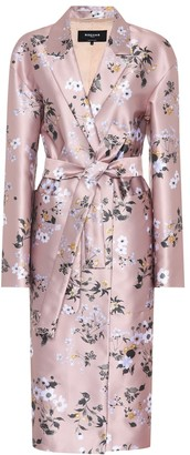 Rochas Printed satin coat