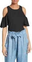 Milly Women's Flutter Sleeve Top
