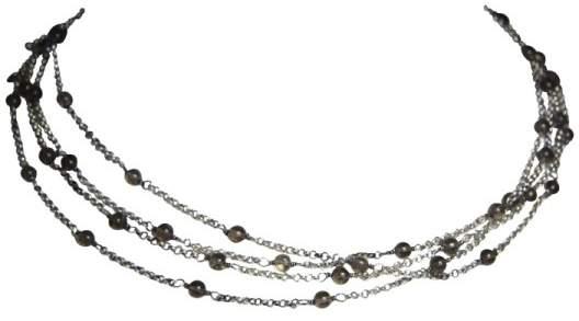 David Yurman Smoky Quartz 925 Sterling Silver Bead Chain Necklace