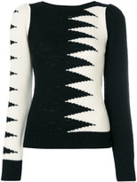 Marc Jacobs zig zag panel top - women - Nylon/Viscose/Cashmere/Wool - S