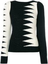 Marc Jacobs zig zag panel top - women - Nylon/Viscose/Cashmere/Wool - XS