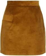 Sandro Ribbed Velvet Skirt