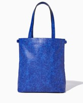 Charming charlie Kinley Faux Snakeskin Tote