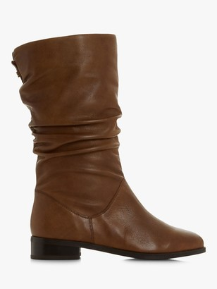 Dune Wide Fit Rosalinda Leather Calf Boots