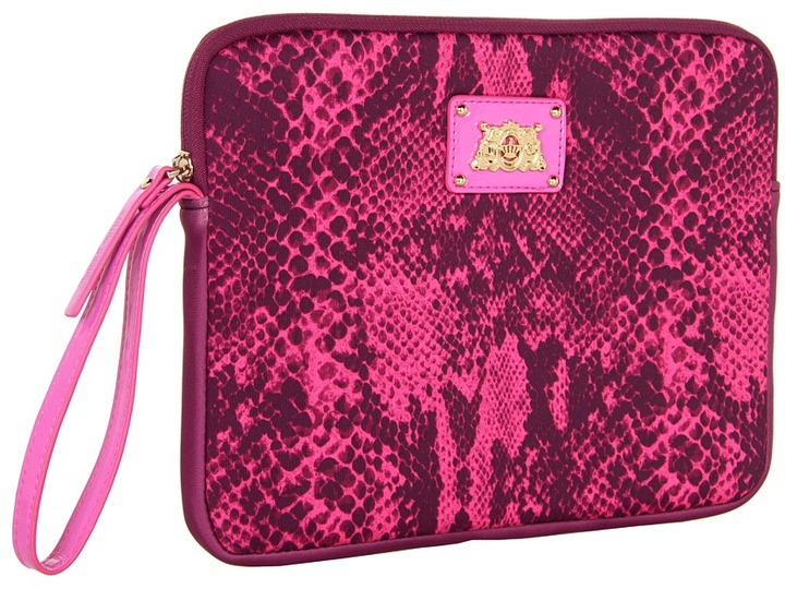 Juicy Couture Python Snake Tablet Wristlet (Hot Pink) - Bags and Luggage