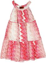 Missoni Embroidered Viscose Knit Tiered Dress