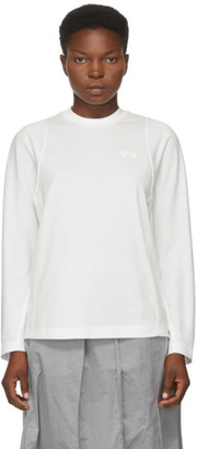 Y-3 White Classic Tailored Long Sleeve T-Shirt