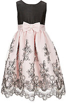 Jayne Copeland Big Girls 7-12 Colorblock Floral-Embroidered Dress