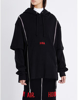 Hood by Air Thermal double-zip jersey hoody