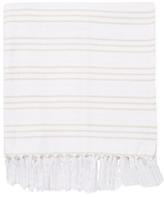 Melange Home Yarn Dyed Triple Stripe Cotton Throw