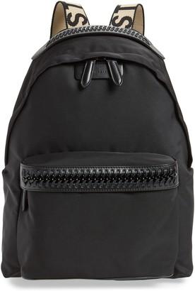 Stella McCartney Logo Strap Nylon Backpack