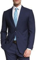 Armani Collezioni M-Line Solid Two-Piece Wool Suit, Navy