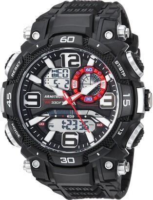 Armitron Sport Men's 20/5270BLK Analog-Digital Chronograph Black Resin Strap Watch