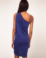 Asos One Shoulder Dress With Drape Side