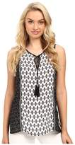 Christin Michaels Charlie Printed Top