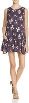 En Creme Floral Print Lace-Up Dress - 100% Exclusive