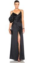 Saint Laurent Draped Satin Lingerie Gown
