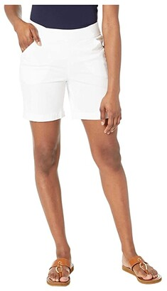 Jag Jeans 7 Petite Gracie Pull-On Shorts (White) Women's Shorts