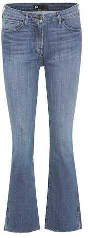 3x1 W25 cropped mid-rise bootcut jeans