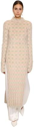 Jil Sander Long Mohair Blend Knit Dress