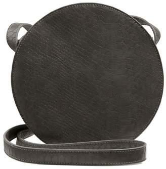 Oliver Bonas Womens Grey Mitta Croc Round Cross Body Bag - Grey