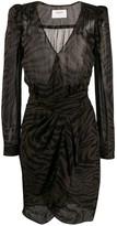 BA&SH Saphir wrap-style dress
