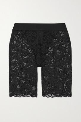 Versace Jacquard-trimmed Stretch-lace Shorts - Black