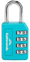 Kathmandu 4 Dial Backpack Luggage Security Password Combilock Padlock Blue