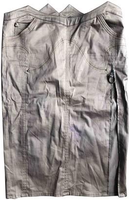 Just Cavalli Brown Cotton Skirt for Women