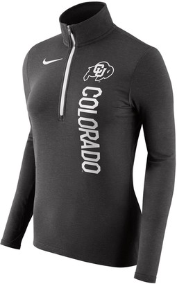 Nike Women's Heathered Black Colorado Buffaloes Dry Element Performance Quarter-Zip Pullover Jacket