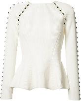 Carolina Herrera button up rib knit j