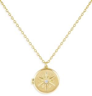 Adina's Jewels Adinas Jewels Starburst Locket Necklace, 22