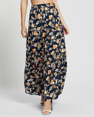 Seven Wonders - Women's Navy Maxi skirts - Elena Maxi Skirt - Size One Size, 6 at The Iconic