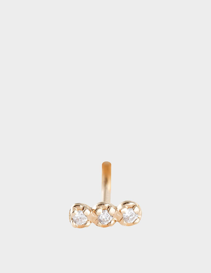 ginette_ny Solo Diamond Strip 18-karat rose gold stud